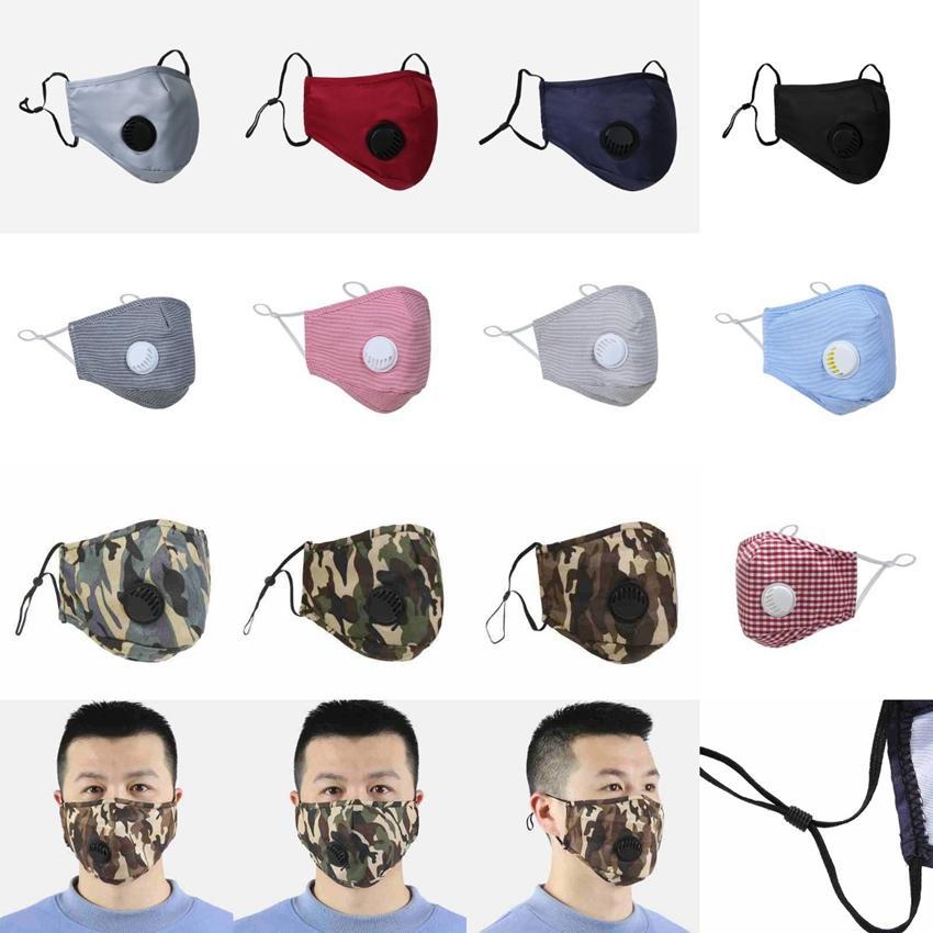 12 styles face mask anti-dust breathing valve masks adjustable washable reusable mouth masks breathable pm2.5 camo masks CYZ2478