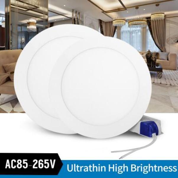 20x hohe Helligkeit runde Platte leuchtet niedrige Preise Led Einbaudownlights Lamp6w / 9w / 12w / 15w / 18w AC86-265V CER RoHS FCC UL