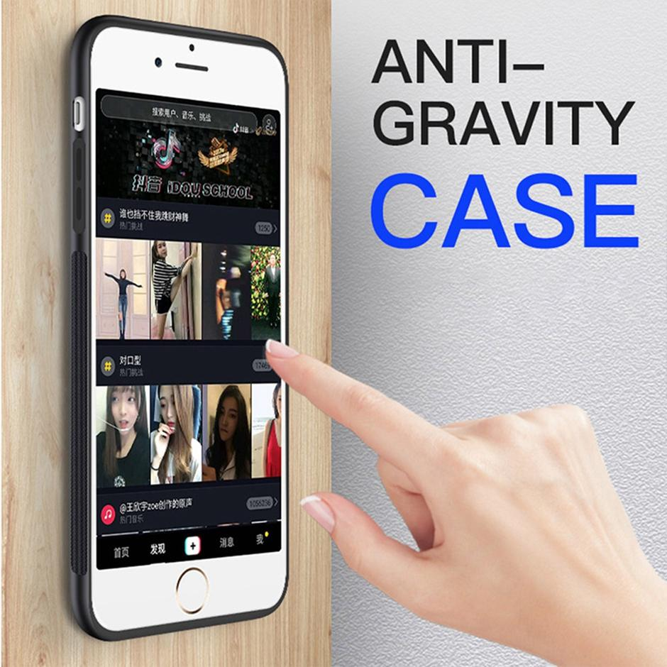 Anti-Gravidade Nano Adsorption Phone Cases para iPhone 12 11 Pro Max XR XS 7 8 Plus Samsung S21 S20 Ultra S10 S9 S8 Note10