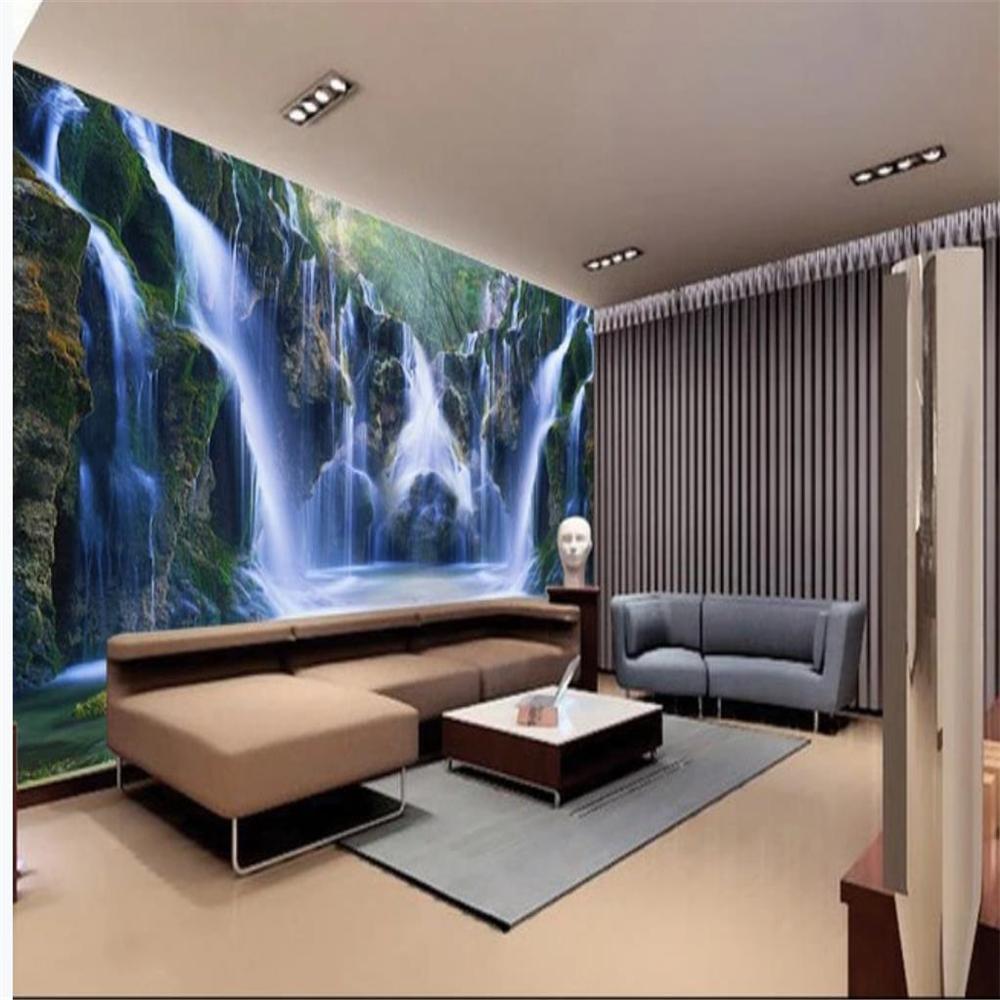 3d пейзаж обои 3d Фрески обоев для живого водопада комната воды обои фона стены