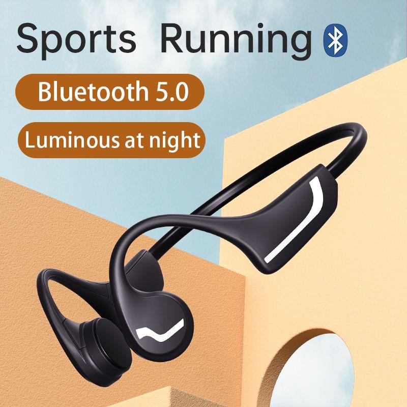 DDJ H9 Luminous Headphones Bluetooth 5.0 For Vivo Samsung Huawei Bone Conduction Headsets Wireless Earphones Sports Handsfree
