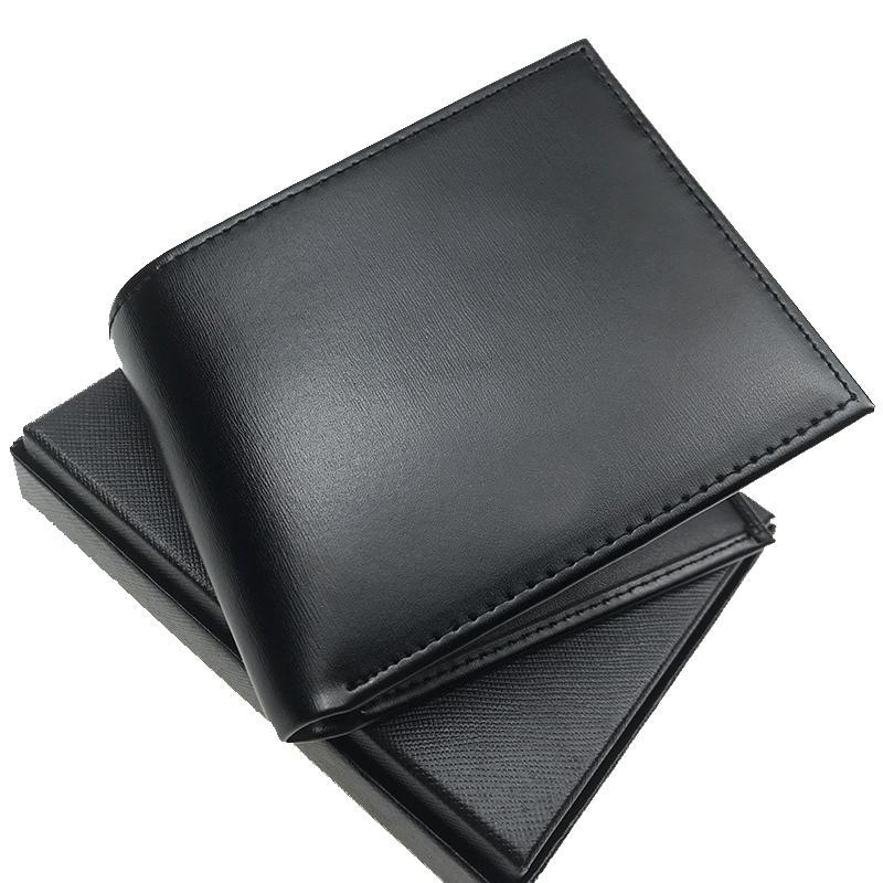 Men's designer wallets fashion high-end leather wallets black short cash clip pocket wallets designer card holders portfolio with box