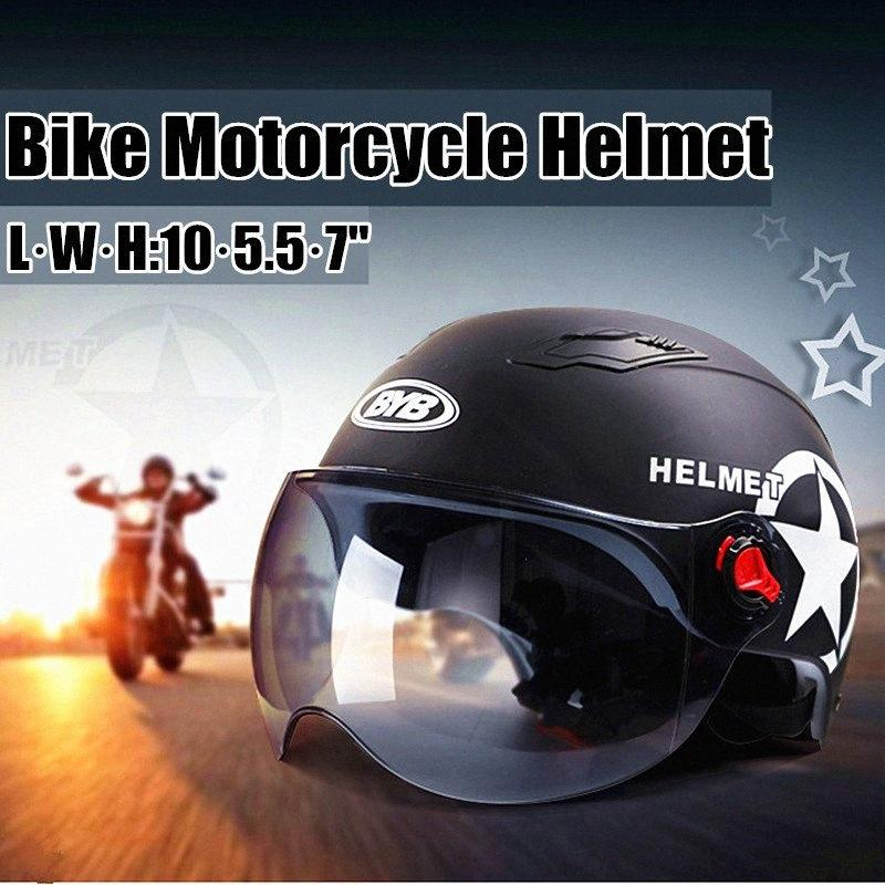 Casque de moto Scooter Vélo entrouvre visage Casquette Anti UV Sécurité Casque Motocross Casque Couleur Multiple Protect 5seA #