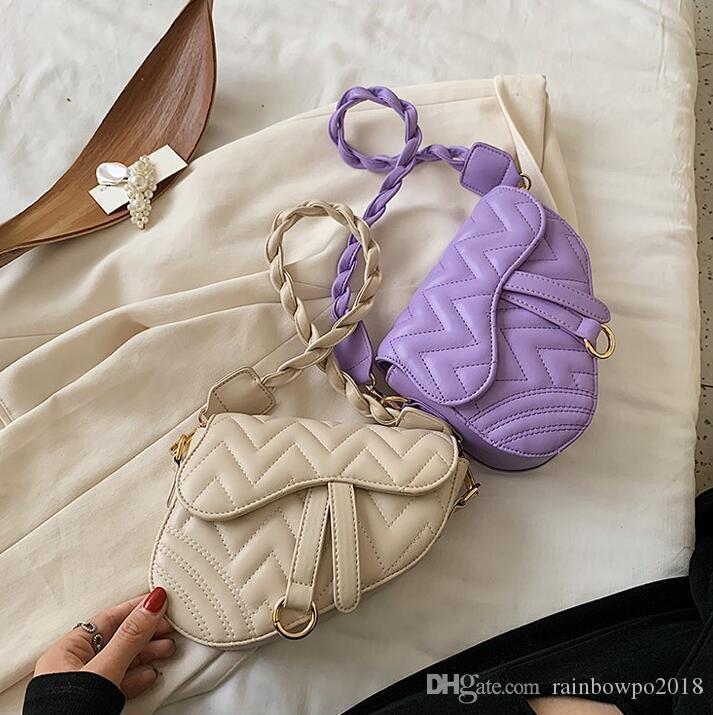 Factory wholesale women handbagshoulder strap fashion bag sweet small fresh printed leather shoulder bag fashion contrast color messenger b