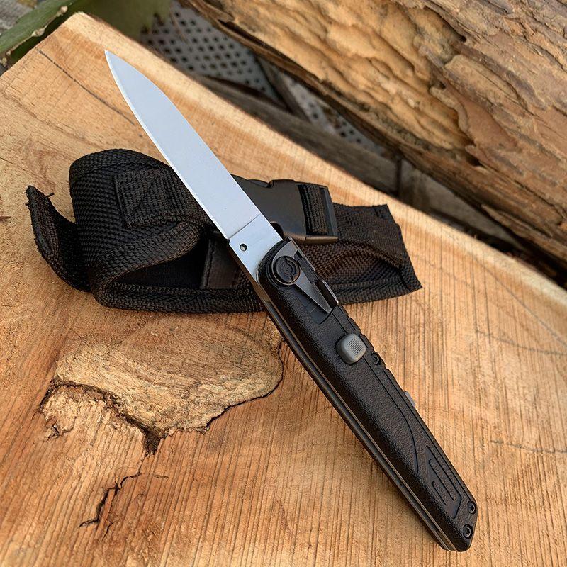 핫 접는 칼 FRN은 나일론 섬유 핸들 캠핑 사냥 야외 생존 하이킹 유틸리티 EDC 손 도구 나이프 강화