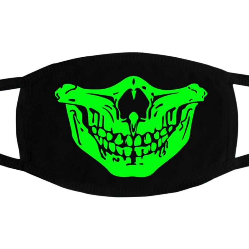 Multi Use Luminous Zubehör-Maske für Erwachsene Halloween-Schädel-Masken Skeleton PM2.5 Staubdichtes Schädel halbe Gesichtsmaske