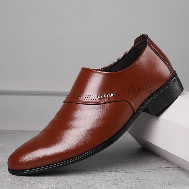Платье Обувь 2021 EST Бизнес Мужчины Оксфорды Набор ног Черный коричневый мужской офис свадьба заостренный мужской кожи