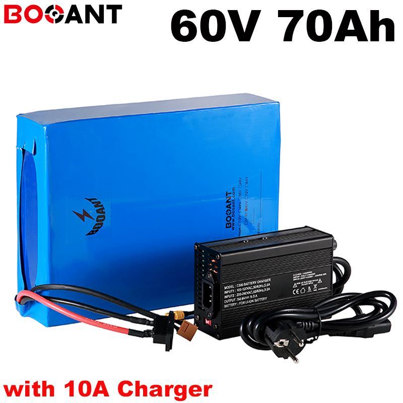 7000W 5000W 60V 70Ah bicicleta eléctrica batería de litio para Samsung 35E 18650 células 16S 20P ebike con Fast 10A Cargador