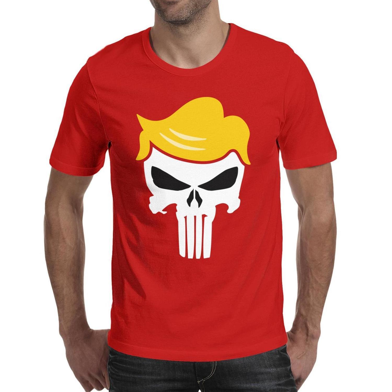 Мужская мода козыря каратель волосы в форме черной шеи майки Champion Vintage рубашки Trump Punisher Gay Pride Rainbower логотип Серый