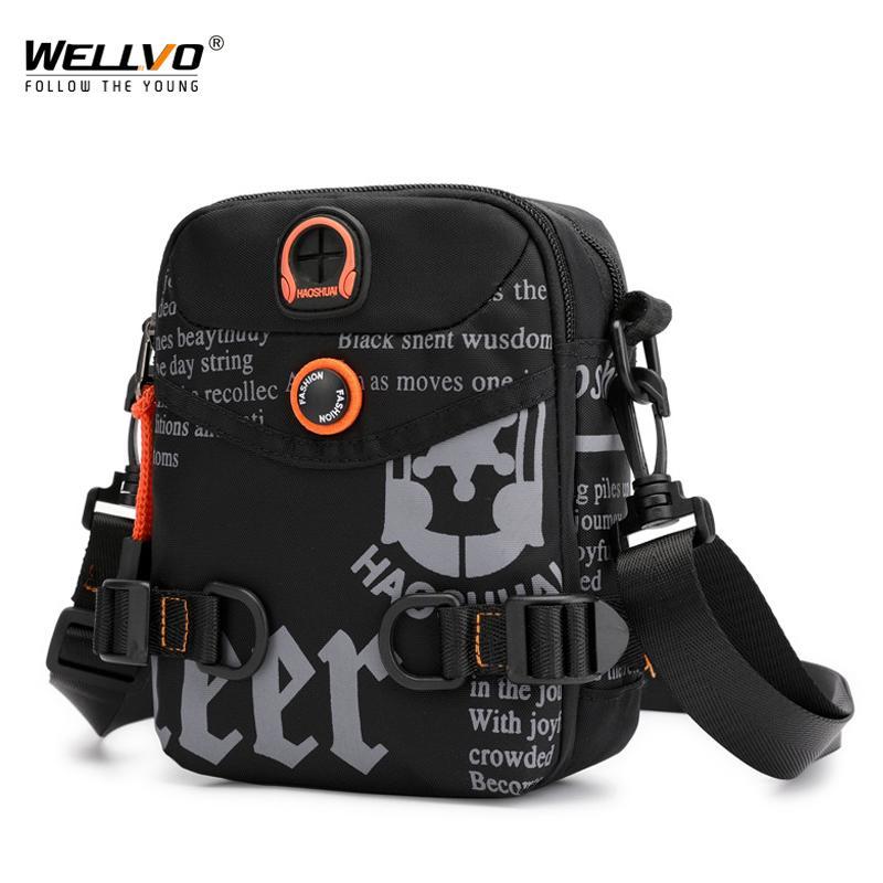 Многофункциональная сумка водонепроницаемый Graffiti Письмо Crossbody сумки плеча Талия Packs Телефон Фанни Сумка для наушников Отверстие XA18C CX200713