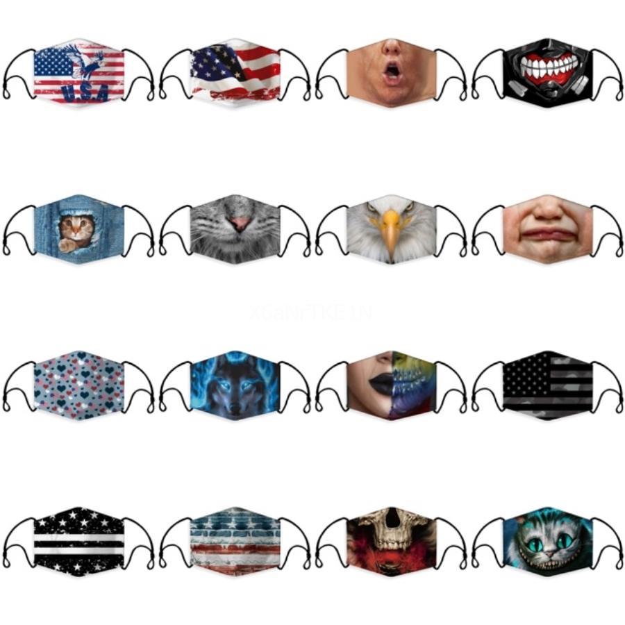 TRANSFRONTALIER Les ventes de 3D Designer Imprimé Masque antipoussière et le masque d'oreille-Hanging personnalisé Parodie respirant avec des masques de filtre 4521 # 433