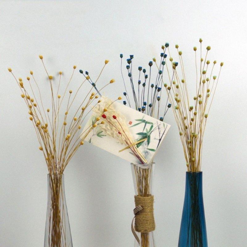 50 ينبع المجففة النباتات زهور سعيد زهرة الطبيعية باقة الزهور الديكور للمنزل والبستان حفل زفاف مهرجان الديكور اللمحة #