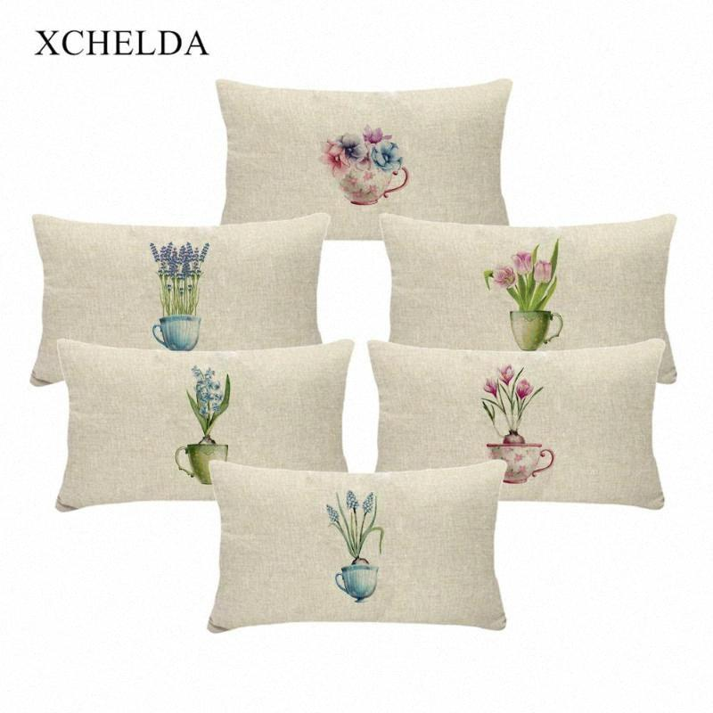 Pillow Case Cotton Vintage Holiday Pillowcase Spring Flower Pink Floral 30*50 For Children Bedroom Fur Linen Cushion Cover 4aHR#