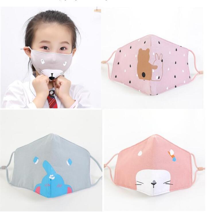 2020 En Stock rapide des navires et des enfants adultes Masques visage avec valve de respiration mode 3-couche Designer Masque Masques anti-poussière Earloop GD422