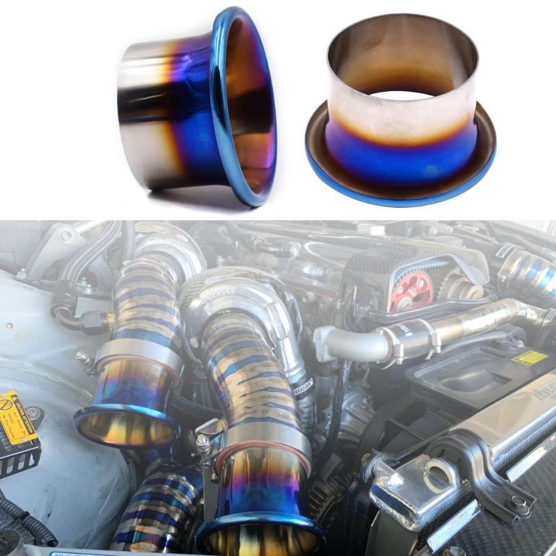 76 millimetri / 89 millimetri / 102 millimetri Titanium Blue presa dell'aria fredda Kit sistema di canalizzazione Velocity Stack Kit Turbo Horn