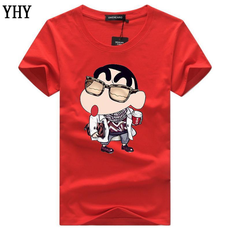 Été O col T-Shirt Plus Size Hommes Marque 5xl Imprimé de haute qualité à manches courtes Chemises 5XL T-shirt décontracté coton C-10