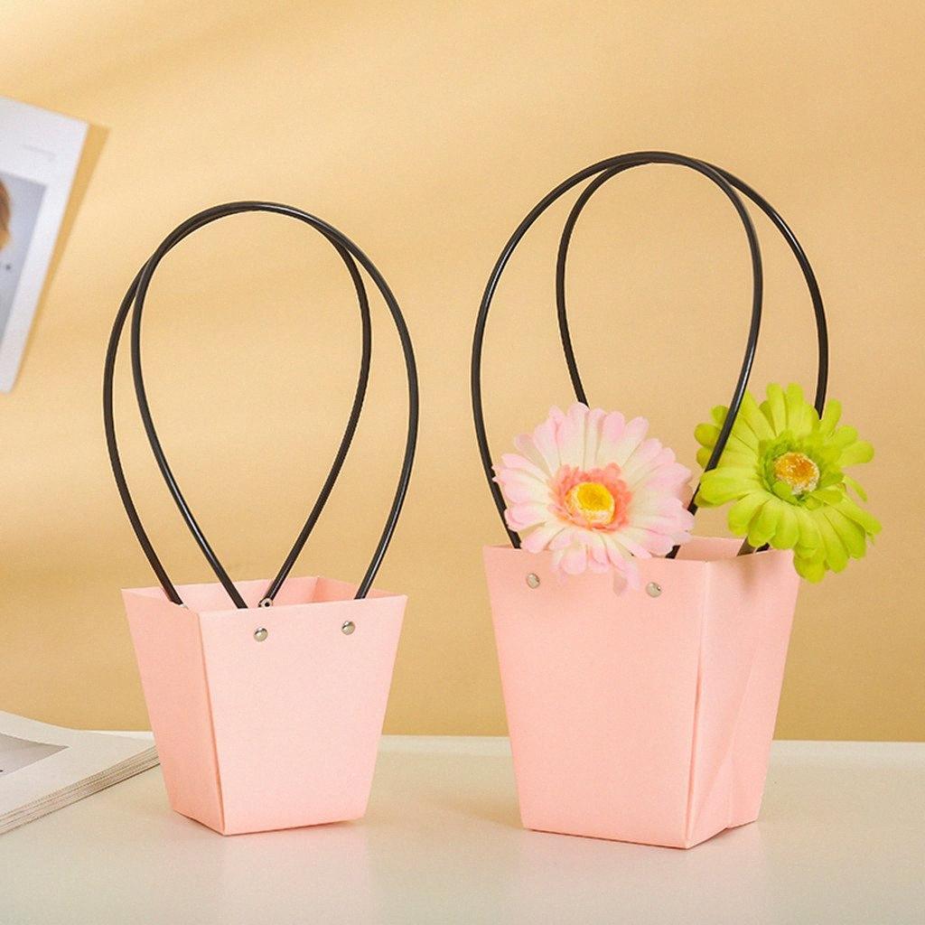 5pcs Fiore Paper Bag Corone Box Fiore Packaging borsa decorativi Cesti impermeabili Box LUt5 #