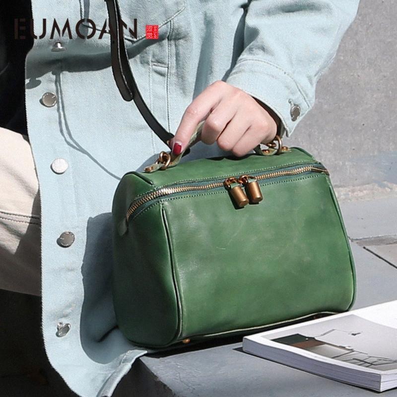 EUMOAN кожа Vintage стилет сумка, женская ручной работы коровьей сумки на ремне, женская ручной подушки мешок Фирменное наименование Кошельки Ночь Сумка nP3F #