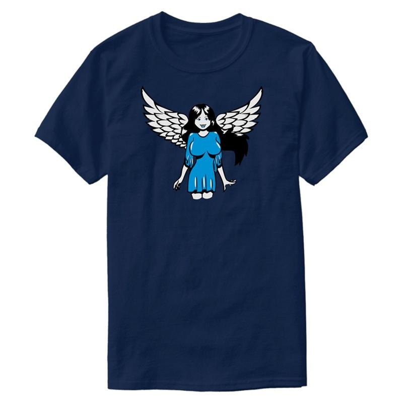 Printed Fashion Angel Wings Sexy Comic T Shirt Natural Outfit Round Neck Male T Shirts Oversize S 5xl Hiphop Tops The Coolest T Shirts T Shirt Shirt Designs From Fjdh08 10 06 Dhgate Com