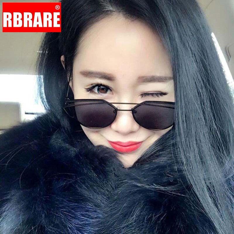 Sol de Rarerb Candy Gafas de sol Vintage Nuevo Classic Mujer Color Sun Glasses Cateye Okullary Designer 2019 Gafas Mujer UTKSO