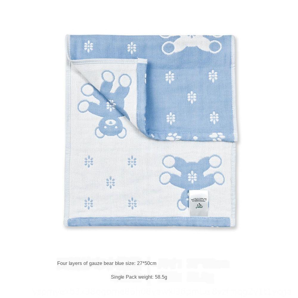 Maomaoyu puro cotone a quattro strati di garza faccia asciugamano viso asciugamano assorbente del bambino più spessa