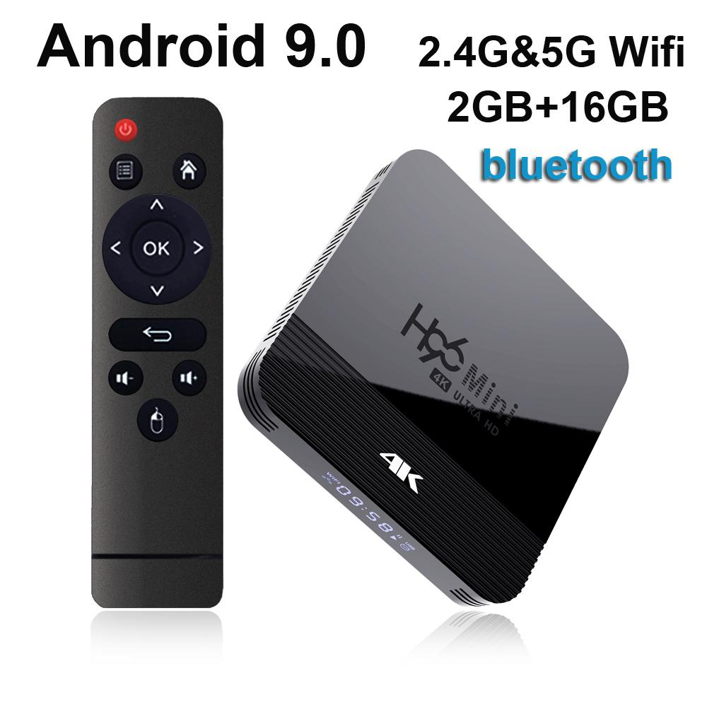 H96 Mini H8 Android 9.0 TV Box RK3228A 2.4 G 5G Dual Wifi Bluetooth Set Top Box vs TX3 Mini MXQ Pro
