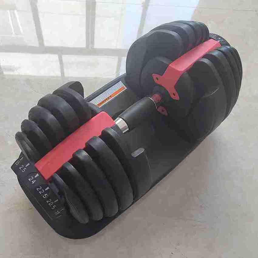 قابل للتعديل الدمبل 2.5-24kg أوزان للياقة البدنية التدريبات الدمبل بناء عضلاتك لوازم الرياضة معدات اللياقة البدنية ZZA2196 الشحن البحري