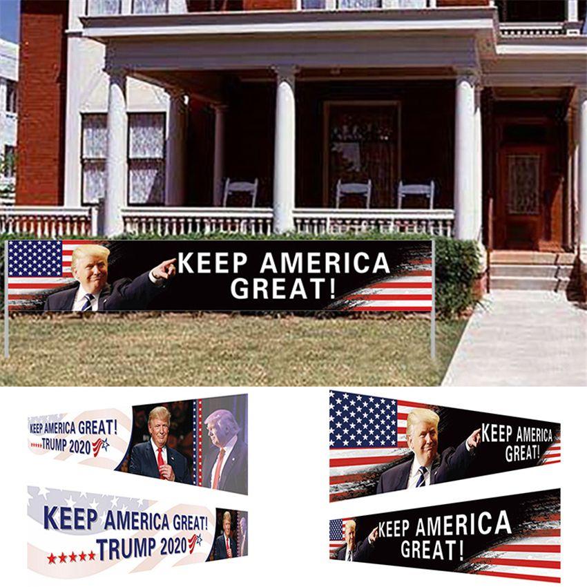Los Estados Unidos de América Mantenga la bandera de Gran 296x48cm Trump 2020 Elección Presidencial Banner Campaña Trump envío de DHL de la bandera