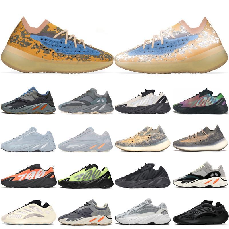 2020 kanye 700 Chaussures de course pour hommes, femmes V3 Alva Azaël 380 Sports Bleu Avoine Reflective Mist formateurs mens mauve des Chaussures