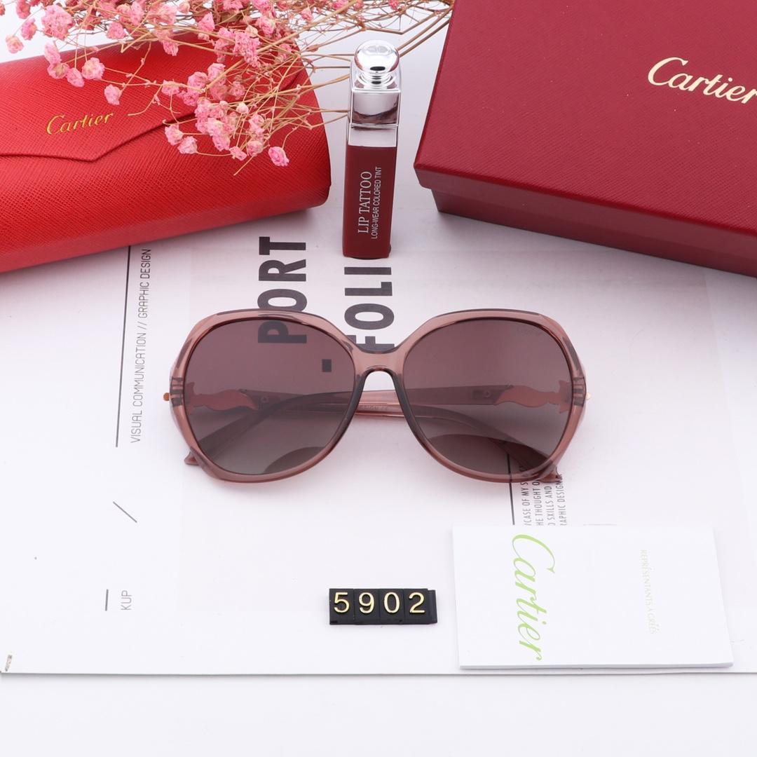 Cartier Yeni erkek tasarımcı metal Vintage güneş gözlüğü moda stil kare çerçevesiz UV orijinal durumda olan 400 lens güneş gözlüğü