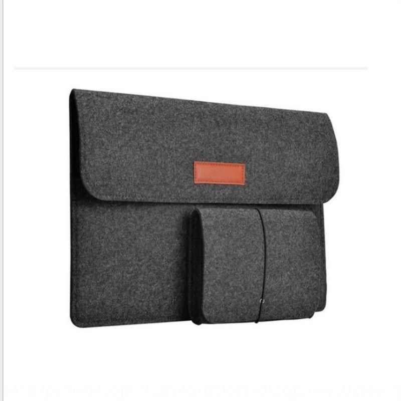 Nueva oscuro multifuncional portátil gris ordenador de la oficina bolsa portátil bolsa de ordenador sentido