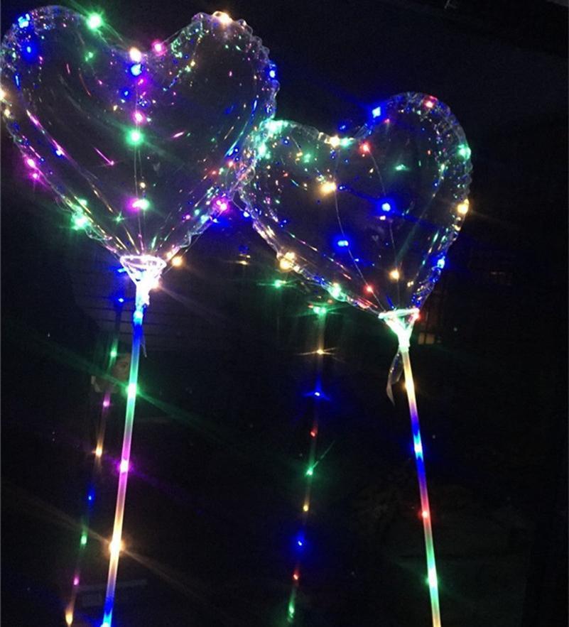 LED BOBO BOOON PISCANDO Coração Coração Em Forma de Bola Transparente Balões 3M String Lights Festa de Natal Decorações De Casamento Decorações Crianças Brinquedo 02