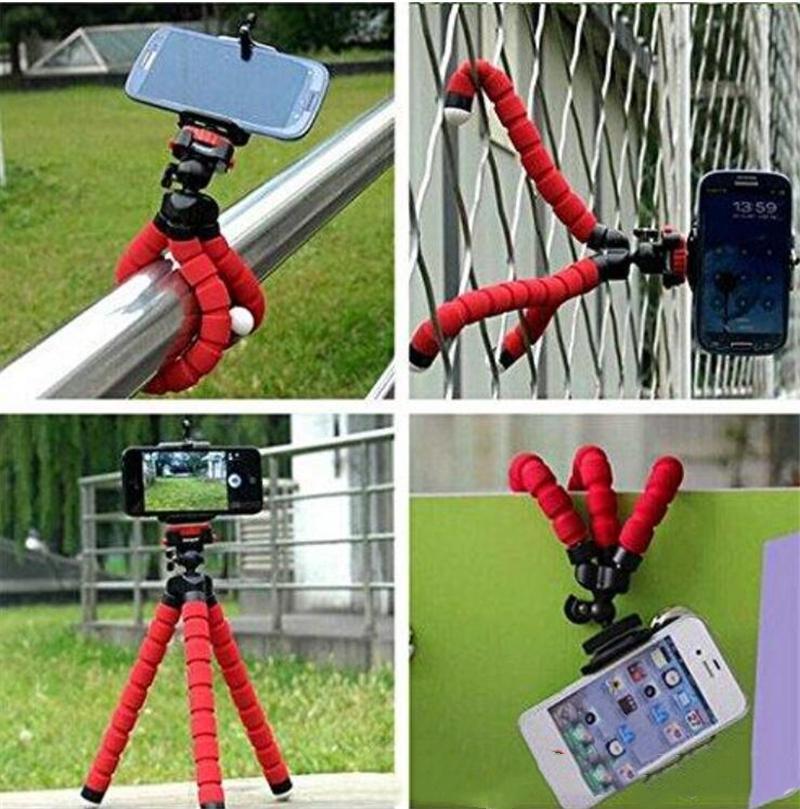 SUPPORT DE TÉLÉPHONE MOBILE DE TRIPODE POUVOIDE SOUPIDE SUPPORT SUPPORT UNIVERSAL POUR PHONE PLALEUR PHONE PORTABLE Caméra Portable Selfie Monopod