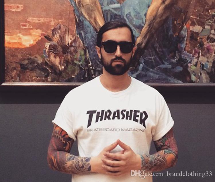 2020 camicie Moda Uomo T per la manica corta uomo in cotone nuovo capo stampato magliette Via Uomini Cotone Casual Tee Shirt Homme