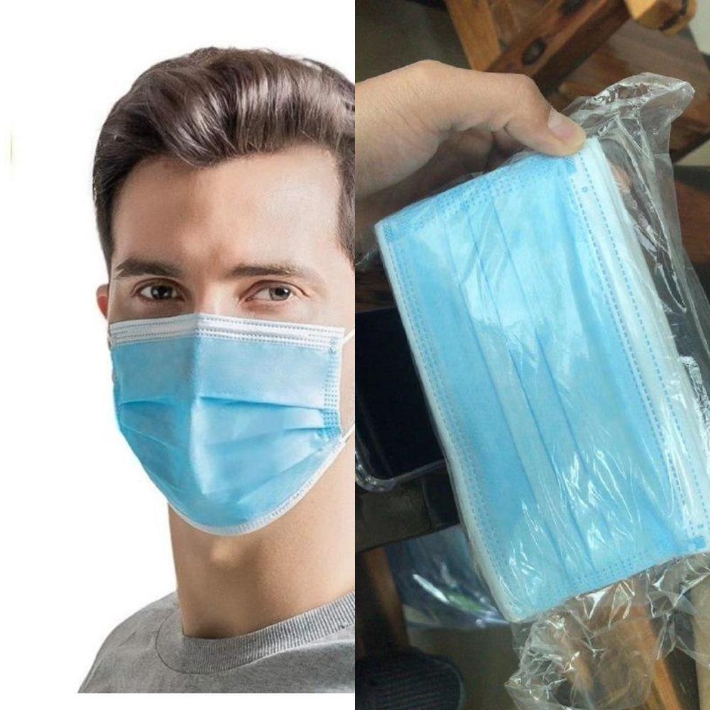 AZIONE!! All'ingrosso nella mascherina 3ply protettivo maschere monouso antipolvere breat