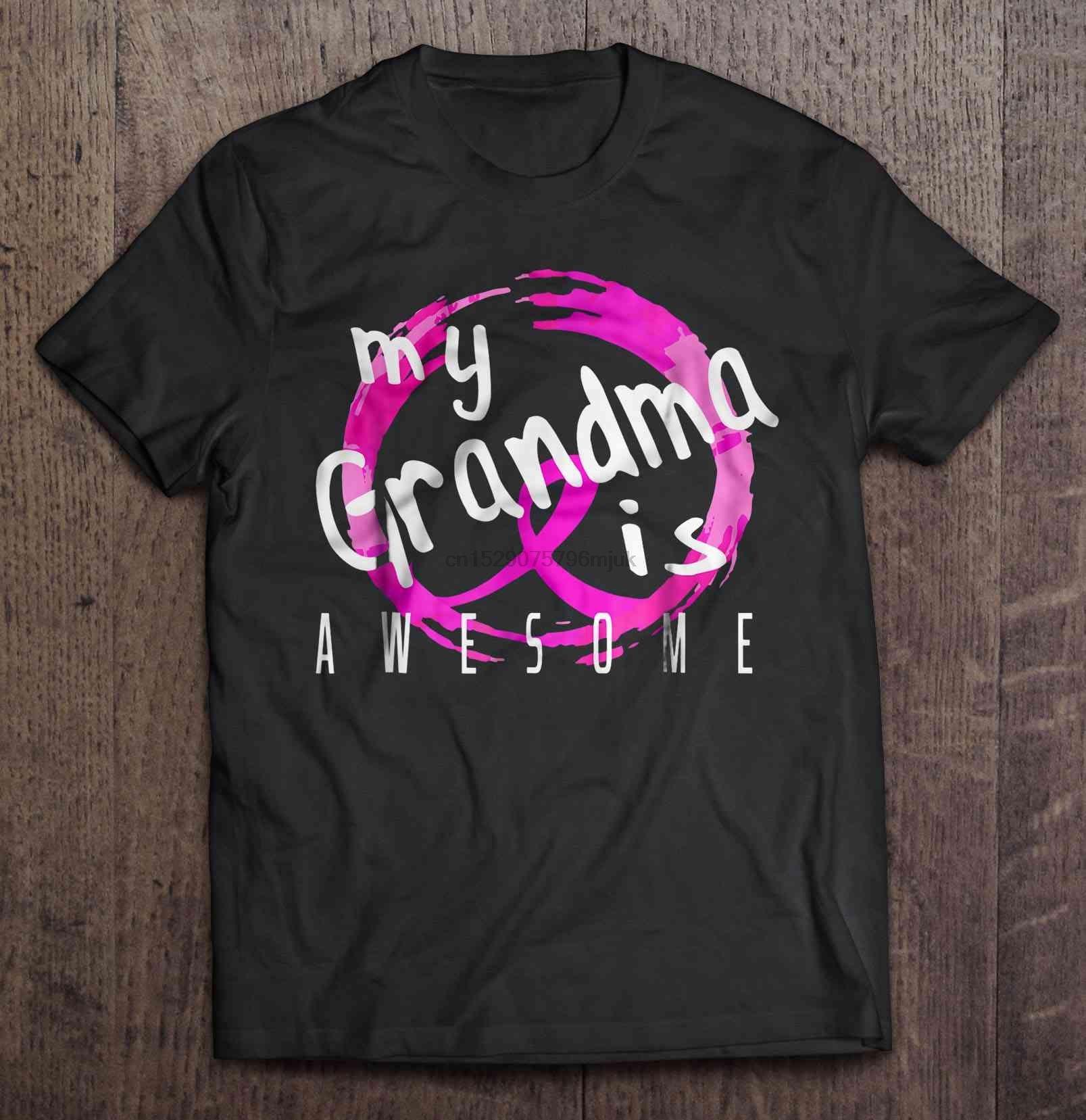 Müthiş -Breast Kanser Erkekler t gömlek Bilinci Kadınlar t-shirt da büyükannem