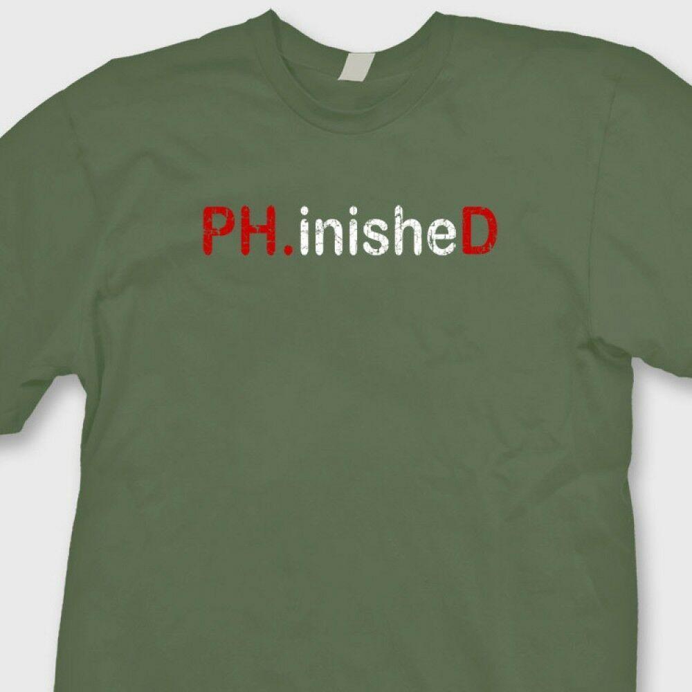 D PHD Komik GRAD Gag Hediye Tişörtlü Koleji Mezuniyet Tee Shirt inishe PH