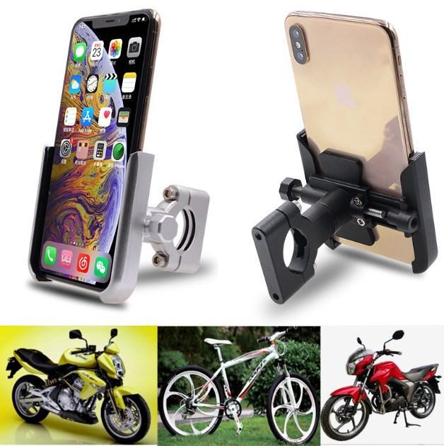 Telefone novo da liga de alumínio da motocicleta bicicleta móvel GPS suporte de navegação Titular Motorbike Moped bicicleta Handlebar Mount Bracket