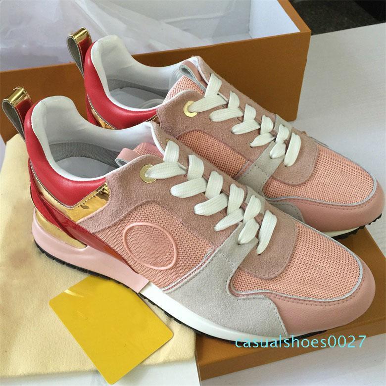 ÇALIŞMA UZAK Tasarımcı spor ayakkabısı Kadın Gerçek deri ayakkabı erkekler Sneakers Kadınlar Flats Lüks Tasarımcı Günlük Ayakkabılar Orijinal kutu C27
