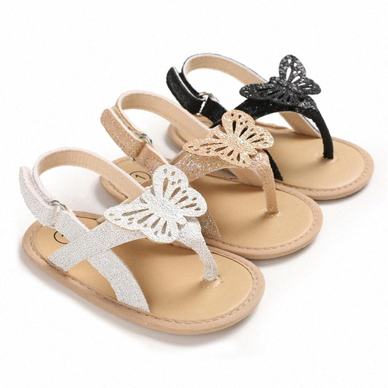 2020 Fashion Trend Baby Girls Summer Casual Sandals Lovely Butterfly Princess Dress Anti Skid Flip Flops Newborn Infant Shoes Shoes Fo 2B8J#