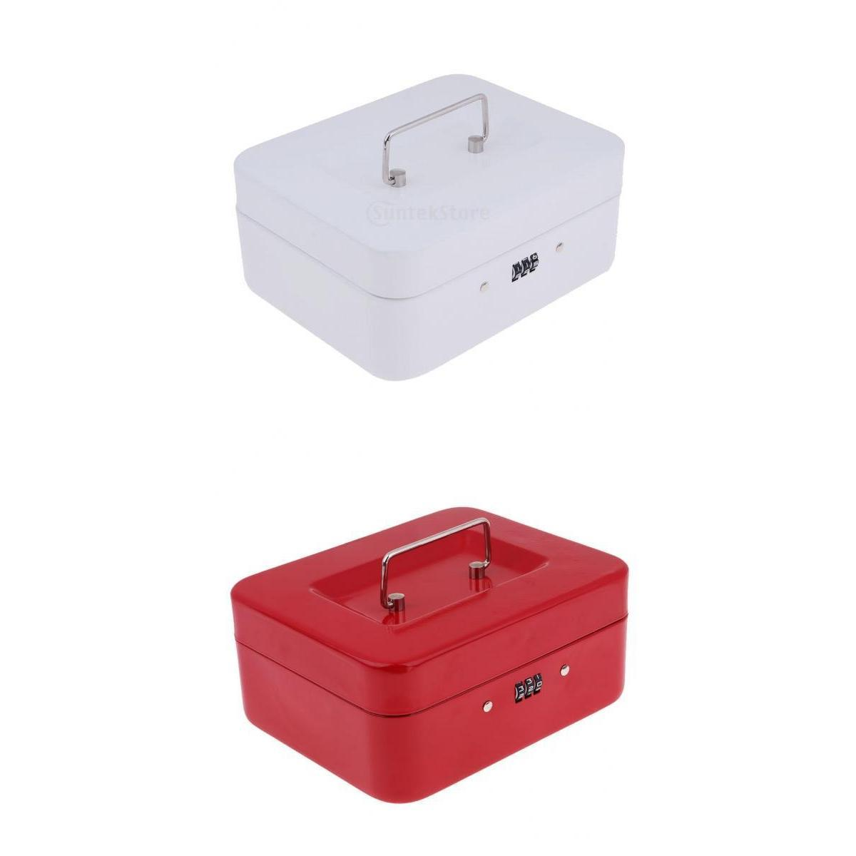 Money Box 2pcs Mini Cash Box Banco Piggy com fechamento de combinação para a Segurança