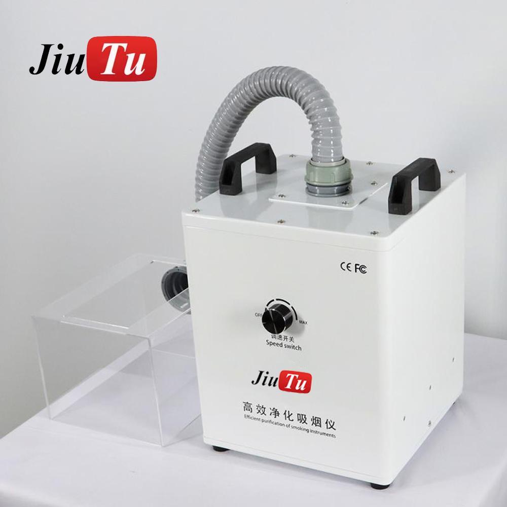 العودة بالليزر الزجاج الدخان النازع مع صندوق واضح الدخان النازع دخان حجم امتصاص أداة لحام Jiutu الصغيرة 110V / 220V