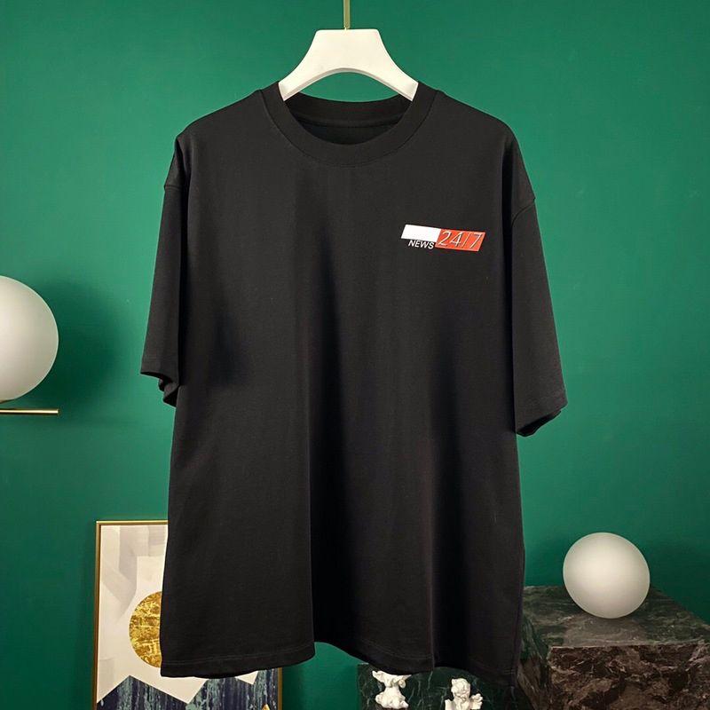 Europa, Frühling, Sommer Stilvolle Paris Nachrichten 2417 T-Shirt Mode Männer Frauen-T-Shirt Lässige Street Cotton Tee