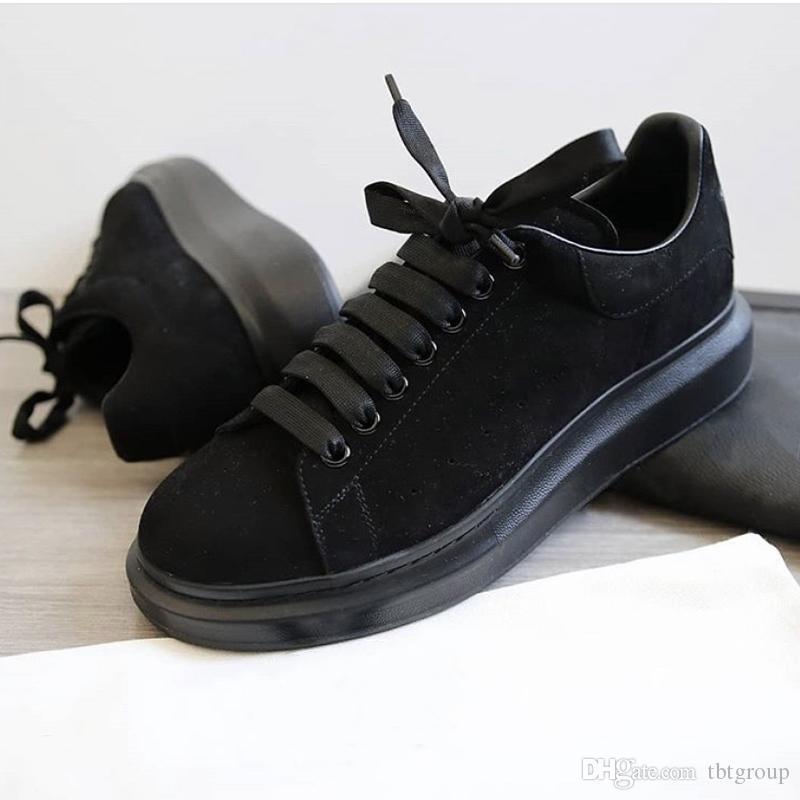 Últimas Designer Shoes Plataforma Sneakers Luxo Mulheres instrutores dos homens de couro sapatos de camurça Platform Oversized Sole 6 cores SZ 4-12 Com Box