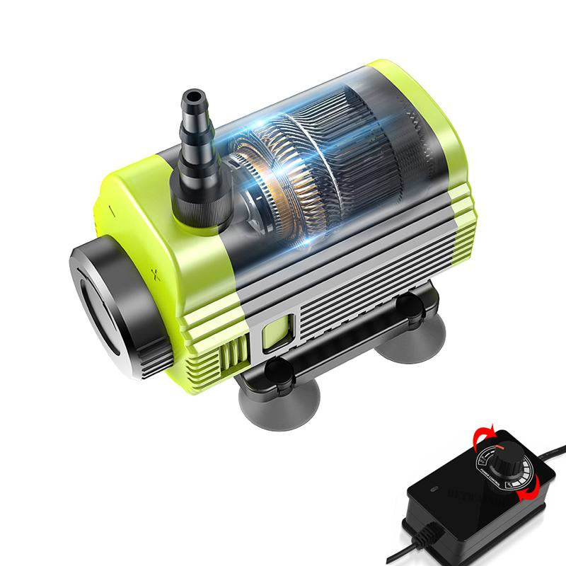 Brushless Submersible Water Pump 12V with 15M Lift Max 540L/H Flow Adjustable Aquarium Pump Professional for Sink Machine Cutting Machine