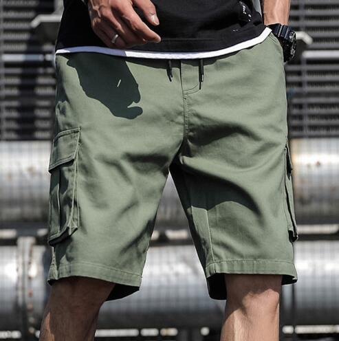 Más los pantalones del verano Tamaño de carga pantalones cortos de algodón para hombres Casual Pantalones cortos masculino flojo corto de Carga