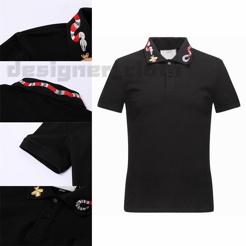 20SS Printemps Italie T Designer T-shirt Polos High Street broderie Little Bee couleuvres rayées impression Vêtements pour hommes Marque Polo