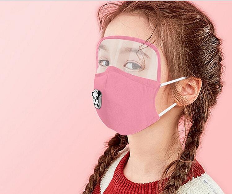 Vana PM2.5 Filtre Yeniden Yıkanabilir Koruyucu toz geçirmez kulak askısı Pamuk Maskesi Nefes Göz Shield ile Çocuk Çocuk Pamuk Yüz Maskesi
