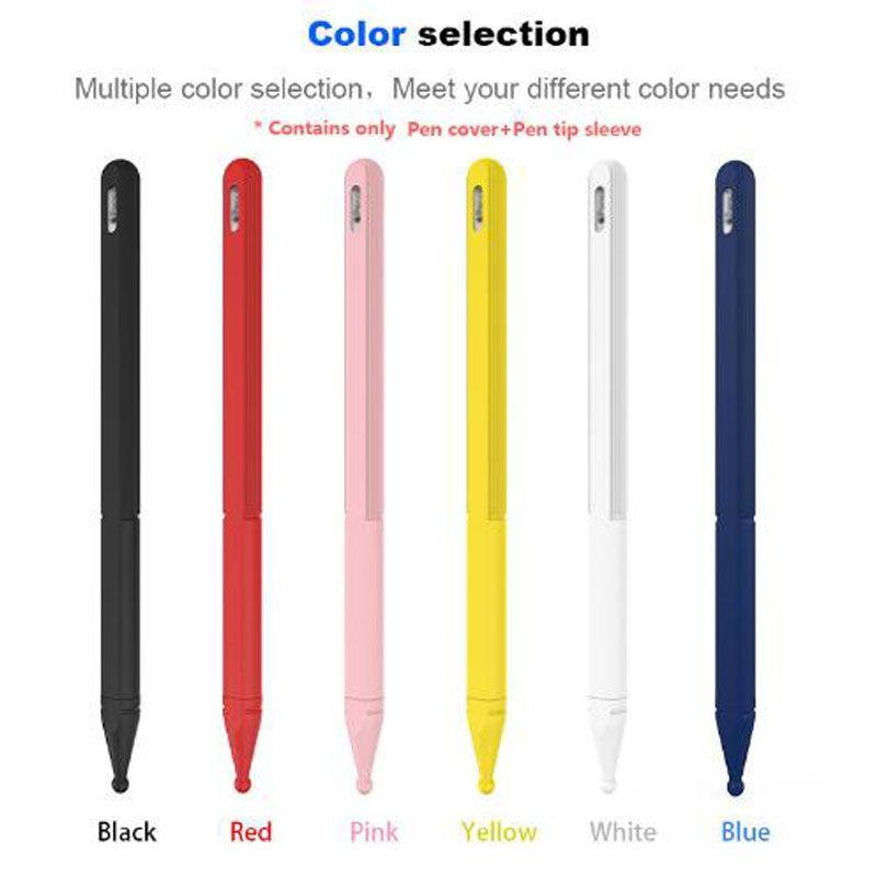 سيليكون غطاء من الجلد متوافق مع قبضة الجيل 2 أبل قلم رصاص قلم رصاص 2 حالة تغطية اكسسوارات لينة الحقيبة واقية مع حزمة البيع بالتجزئة