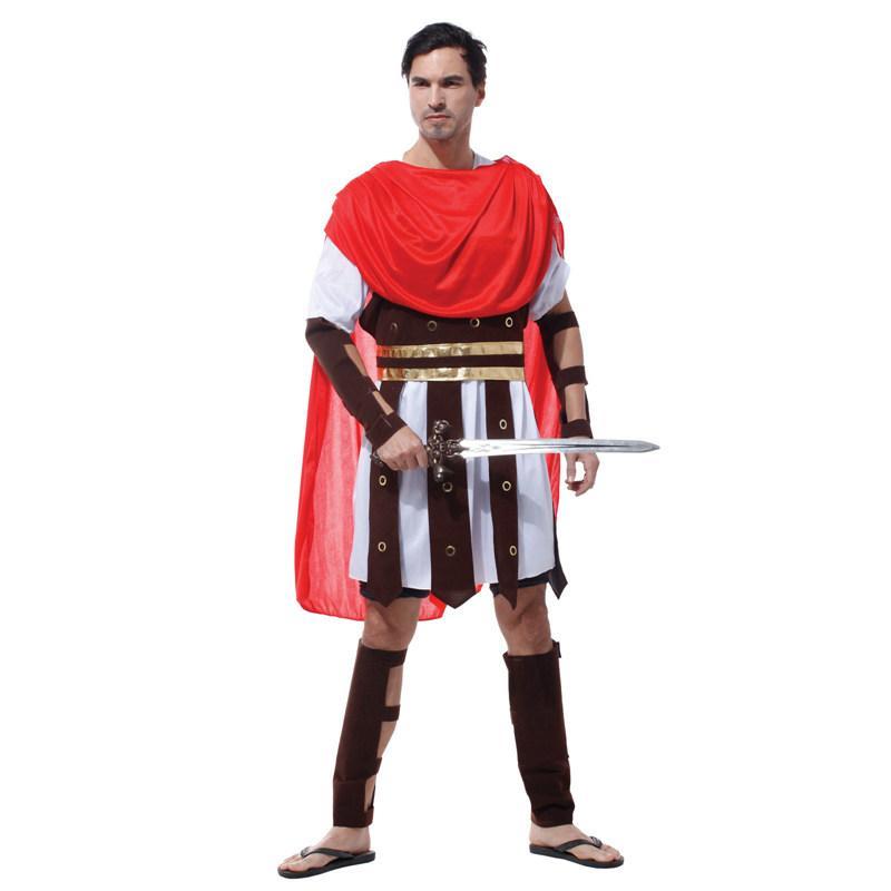 Yetişkin Erkekler Antik Roma Savaşçı Kostüm Gladyatör Asker Kostümler Karnaval Purim Cadılar Bayramı Cosplay